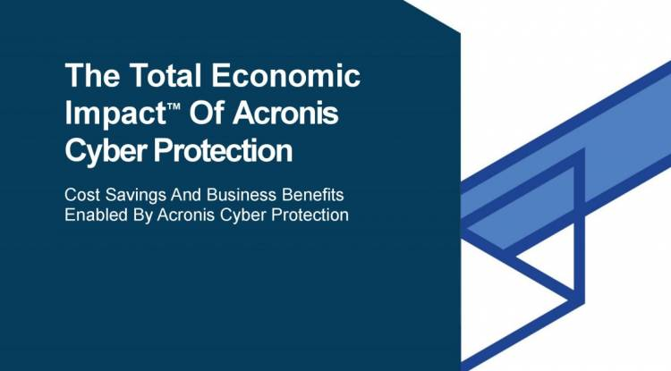 Forrester Examines the ROI Enterprises Gain From Acronis Cyber Protection